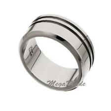 10mm Classic Double Groove Mens Titanium Wedding Band Engagement Ring Size 6