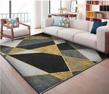 3D Black Gray Graphics Non-Slip Rug Door Shower Play Mat Hearth Floor Carpet 246