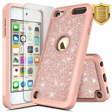 For iPod Touch 5th 6th 7th Gen Case Bling Glitter Hybrid Cover +Screen Protector