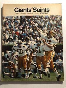 1968 NEW YORK GIANTS vs NEW ORLEANS Saints Program BILLY KILMER Yankee Stadium