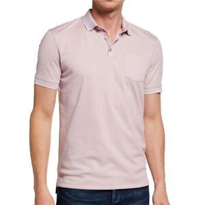 John Varvatos Star USA Men's Cambridge Birdseye Pique Polo Shirt Lilac Mist