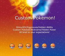 6 Custom Pokemon Shiny Bundle 6IV-EV Trained Ultra Pokemon Sun and Pokemon Moon