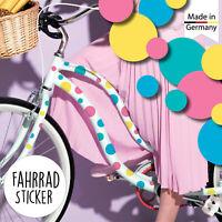 Fahrradaufkleber 42 Punkte Kreise Fahrrad Sticker Fahrraddesign Kinderfahrrad