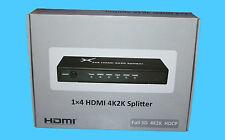 Maplin 4 VIE 4K SPLITTER HDMI FULL 3D 4k2k HDCP-n67dv-RRP = £ 89.99 - NUOVO