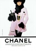 Chanel Fashion woman Advertisement Magazine Print Ad 1996 1 pg Original Vintage