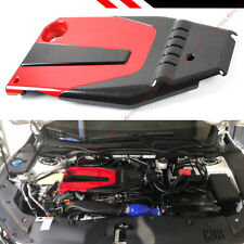 FOR 2016-18 10TH GEN HONDA CIVIC JDM RED BLACK TYPE-R STYLE ENGINE VALVE COVER