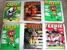 "Creepy/ Eerie Covers six 20"" x 28"" Posters  horror sci-fi war sports Ken Kelly+"
