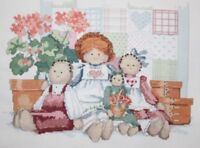 """Dimensions """"Family of Dolls"""" by Barbara Mock Cross Stitch Completed Finished"""