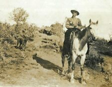 More details for early rp photo postcard man cowboy hat horse dog posted john day oregon 1913