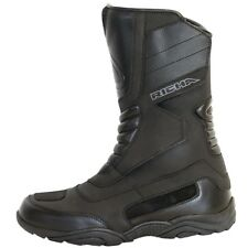 Richa Vapour Waterproof Motorcycle Motorbike Leather Touring Boots - Black