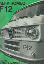 Alfa Romeo F12 A12 Uso E Manutenzione 1970 User Manual n 1256 R3 9/70 3000