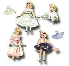 "Vtg 1950s Dress Doll Clothes Pattern ~ 15"" Sweet Sue, Miss Revlon, Toni"