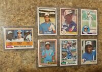 (7) Tim Raines 1981 1982 1983 Topps Donruss Fleer Rookie 2nd Card Lot RC Expos