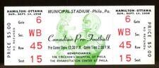 1958 CFL Full Ticket Hamilton Tiger-Cats v Ottawa Rough Riders NMT 43558