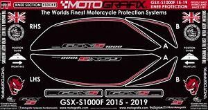 Suzuki GSX-S1000 S1000F 2015 16 17 Motorcycle Knee Pad Motografix Gel Protector