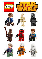 LEGO Star Wars characters set of decoration ICING WAFER edible cake topper A4
