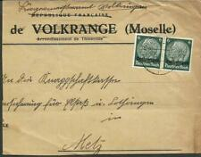 Germany Lorraine Cover 1940 To Metz, Nice!