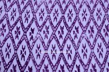 Indian Hand Block Printed Handmade Cotton Fabric Sanganeri 3 Yard Voile Running
