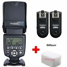 YONGNUO YN-560IV Wrieless Speedlite Flash+2 x RF-603II Flash Trigger For Canon
