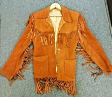 Levis Vintage 1960's Big E LEVIS Jacket Leather Buck Skin Suede Made USA