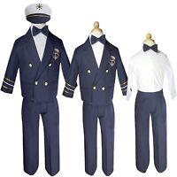 Baby Boy & Toddler Wedding Formal Party Captain Sailor Suit Outfits sz:S M L- 4T