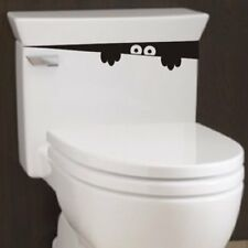 2pcs Monster Toilet Stickers Wall Art Decal Removable DIY