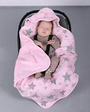 BlueberryShop cotton fleece car seat  Blanket  Baby, pink stars