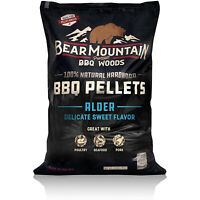Bear Mountain BBQ 100% Natural Hardwood Alder Sweet Flavor Pellets, 20 Pounds