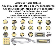 Cable; Din,Mini-Din,Db9,Db15,Mic rophone,Etc To Connector Or Bare, 9 Wires Total