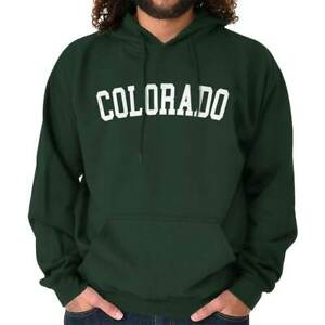 Colorado Athletic Student Gym Vacation CO  Adult Long Sleeve Hoodie Sweatshirt
