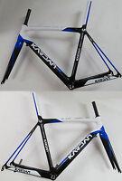 Kardan Carbon Rennrad Rahmen 1250gr. incl. Gabel 420gr. blau/weiss L 55cm NEU