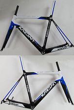 Kardan Carbono Bicicleta Carreras Marco 1250 gramos+Tenedor 420 gramos azul/