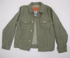 Levi's Green Denim Jacket Size Large 152-158 CM 12-13 Yrs