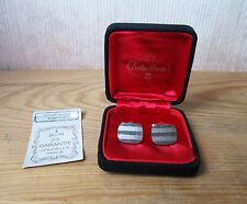 Antico bel paio di gemelli camicia vintage in argento massiccio garantito