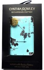 Cynthia Rowley Portable Rechargeable Backup Battery 6000 mAh (light blue/ gold)