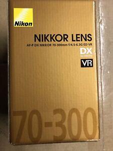 Nikon Nikkor 70-300mm f / 4.5-6.3G ED VR Nikon AF- DX Nikkor zoom lens Brand New