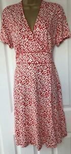 HOBBS LONDON - DARCIE DRESS, RED IVORY- SIZE 18 (Brand New With Tag)