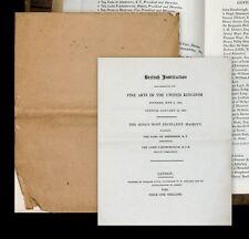 1828 Pall Mall Gallery Art catalogue National Gallery British istituzione...
