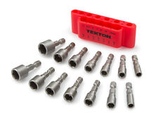 14-pc. Quick-Change Power Nut Driver Bit Set 3/16-7/16 in., 5-12 mm with Detents