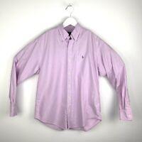 Ralph Lauren Sport Women's UK Size 8 Lilac Long Sleeve Oxford Button Down Shirt