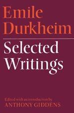 Emile Durkheim - Selected Writings by Émile Durkheim (1972, Paperback)