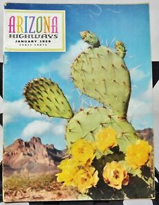 Arizona Highways Magazine Jan. 1959 Tonto Natl. Monument / Desert Drug Store