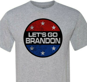 Let's Go Brandon - #FJB - Patriotic Circle - Free Shipping - Big Sizes 4xl - 6xl