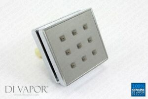 Di Vapor (R) Square Shower Body Water Jet (One Way) for Steam Shower or shower