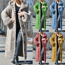 Warm Long Sleeve Outwear Jackets Winter Hooded Knitted Sweater Cardigan Coats