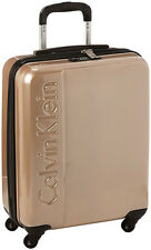 "Calvin Klein Manhattan 2.0 20"" Spinner Wheeled Carry On Luggage - Champagne"