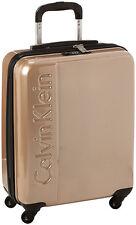 "Calvin Klein Manhattan 2.0 20"" Spinner Wheeled Carry On Luggage - Champagne"