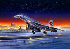 Concorde Boeing 747 British Airways Aircraft Airliner Christmas Xmas Card