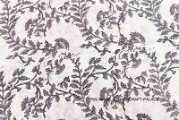 Cotone Tessuto 2.7m Indiano Hand.block Print.running Sciolto Cucito Decor Craft