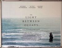 Cinema Poster: LIGHT BETWEEN OCEANS, THE 2016 (Advance Quad) Michael Fassbender